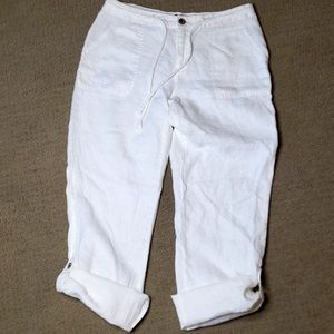 White Linen pants New